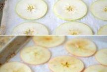 Kartoffel und obst Chips