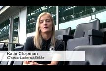 Chelsea Ladies New Signings / Sportsbeat were invited to Stamford Bridge where Chelsea Ladies unveiled the signings of Gilly Flaherty and Katie Chapman.