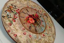 Clocks handmade by Mary