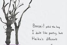 Haiku / 5 - 7 - 5 form/ makes the poem a haiku/ simplifying life