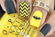 batman nails art