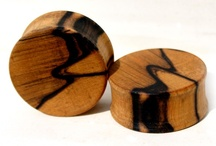 Wooden Gauges, Plugs, Tunnels / Various inspiration for wooden ear plugs.