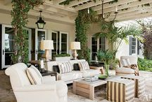 screened porch and patio / by Tressa Sanders