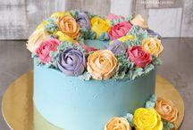 Buttercream Rose Cakes