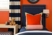 Orange & Blue Color Inspiration / A look a the color combination of blue and orange.