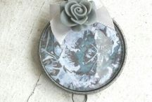 necklace shabby chic romantique flowers