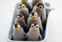 Felt penguins and others