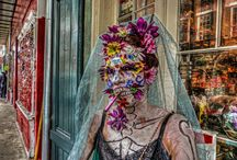 Mardi Gras Fashion Meltdown / The wearable creativity of my fellow New Orleanians is in full bloom during the Mardi Gras season. Here you will find some of the most spectacular, beautiful, funny and scary that i have come across over the years. This is one of several specialized boards that pays tribute to my wonderful home city as seen through the wonky filter of this writer's brain. All these photos are my own. Comments welcome, i hope you enjoy and pin away. Sometimes prints are available on the click-through.