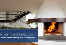 Heating & Cooling Products / Balance warmth and coolness with these heating and cooling ideas including airconitioning for summer relief and fireplaces, geysers, heat pumps and underfloor heating for comfort and warmth in winter