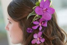 Hair Flower Designs / If you have a special event coming up such as prom or a charity event, a day at the races or even your wedding day, flowers woven into your hair can create a stunning effect. We'd like to share a small selection of what we can do with you - if you like what you see, give us a call on 0161 861 0524 and we'll be happy to help!