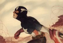 superheroes, heroes and villains / by Maria Fidalgo