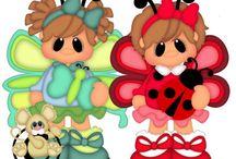 Kreslené panenky