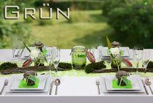 """Tischdeko - Paket Grün / Ihre Garten- oder Sommerparty kann kommen mit Deko von CreaTina-deko.  Tischdeko - Paket """"Grün"""". Sommerlich frische Tischdeko. Wir liefern Ihnen gut verpackt Ihre Deko bequem nach Hause. Mit unserer Deko - Anleitung verwandeln Sie im Handumdrehen Ihren Tisch."""