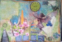 My pages for The Documented Life Project - 2015 / I'm participating in Art to the 5th's Documented Life Project. These are my responses to their weekly prompts. / by Brenda Smoak