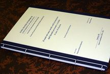 elaborazione, stampa e rilegatura di tesi e tesine. / classiche e retrò.