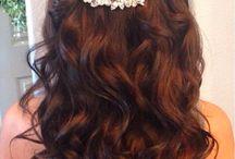 bryllups hår, sminke.....