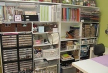 Craft room supply storage / Ideas for organizing craft and art supplies.