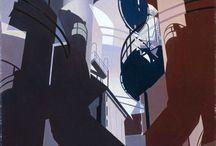 Precisionism / Прецизионизм развивался в американском искусстве в 1920-е годы. Его представителей интересовала репрезентация современной индустрии и архитектуры: всем сюжетам свойственна подчеркнутая монументальность. Упор на геометричные формы выдавал влияние Кубизма, так что критики порой даже называли его Кубическим реализмом. Louis Lozowick, Ralston Crawford, Georgia O'Keeffe, Charles Demuth, Charles Sheeler
