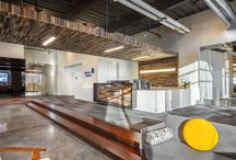 Reclaimed Wood & Office Design / http://www.mstoneandtile.com/design-trends/reclaimed-wood-office-design/