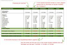 Liquiditeitsbegroting / Voorbeelden van liquiditeitsbegrotingen per kwartaal en per maand. Voor volledige uitleg: https://www.finler.nl/liquiditeitsbegroting/