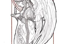 Rysunek anioł