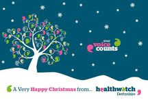 Healthwatch Christmas Cards / Healthwatch branded Christmas cards.