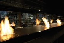 Commercial Fireplace Ideas / Chameleon qualities and eco-friendly features add value to commercial spaces. Adapted to suit every setting from underground bars to high-rise offices, EcoSmart's fire features add warmth, style and instant appeal to professional spaces.   https://ecosmartfire.com/ideas/commercial/