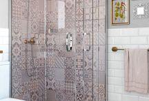 Combinación azulejos baños
