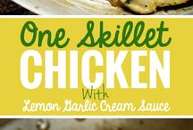 One Skillet Chicken with Lemon Garlic Cream Sauce 05