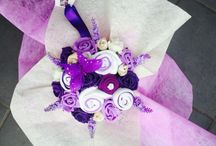 Baby clothing flower bouquets / Flower bouquets made of baby clothing essentials and foam flowers