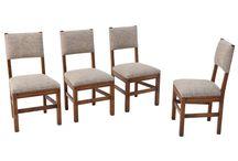 Komplet 4 holenderskich krzeseł z lat 60. / Komplet 4 holenderskich krzeseł z lat 60, po całkowitej rewitalizacji.