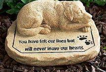 animal memorial garden stone