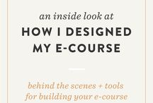 Online Course Creating / create an e-course or online course. tips for creating, launching and teaching courses. For bloggers, entrepreneurs, Etsy shop owners, or small business to help to create, execute and market your online course.