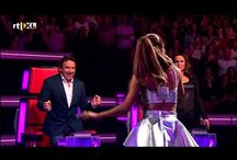 Ariana The voice of Holland / Ariana was singing Numbers in The voice of Holland. And she got 3 awards!