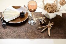 Décoration de la table.