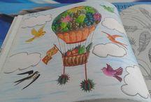 My Coloring / To moje własne kolorowanki z Tajemnego ogrodu i zaczarowanego lasu które sama pokolorowałam :)