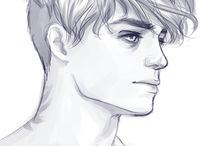 pencil draws portrait