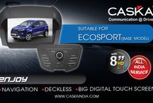 Caska suitable for Eco Sport Base Model / Best selling all in one GPS Navigation system in INDIA at best prices. Features Touchscreen, Audio, Video, Music player. Add on Rear camera and tyre pressure monitoring System for Ford Ecosport Base.