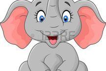 Elefantes dibujo