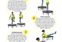 Mini tramp exercises