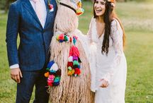 Weddings with Pets / From llama drama to furry friends, pets at weddings are the cutest!