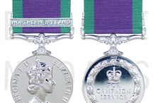 General Service Medals / Medals for general service. Awarded for participation in conflicts that fell short of full scale war