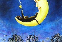 Луна, солнце, небо, облака