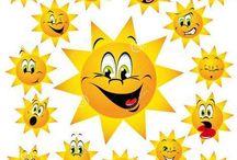 Slnko, mesiac, hviezdy
