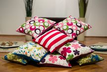 Color Power / Happy, colorful throw pillows changing the energy in your room.