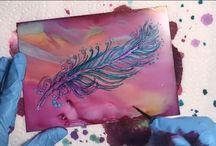 Alcohol Ink Art Demos