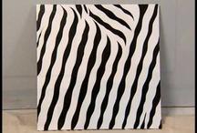 diy painting-zebra