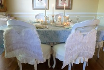Playing in Our Dining Room / Here are photos of our dining room.  :D dining room tablescapes Seasonal dining room decor