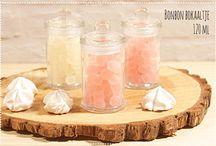 Flesjes en bokaaltjes / Mooie doopsuiker ideetjes met melkflesjes en mandjes