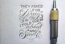 Desenho de letras à mão
